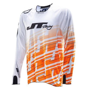 Hyperlite Echo Jersey White-Orange-Black Riding Jersey Trusport S