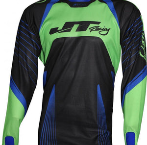 Protek Subframe Jersey Black-Blue-Green Riding Jersey Trusport XL