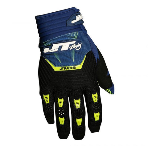 Throttle Glove Navy/Black/Chartreuse