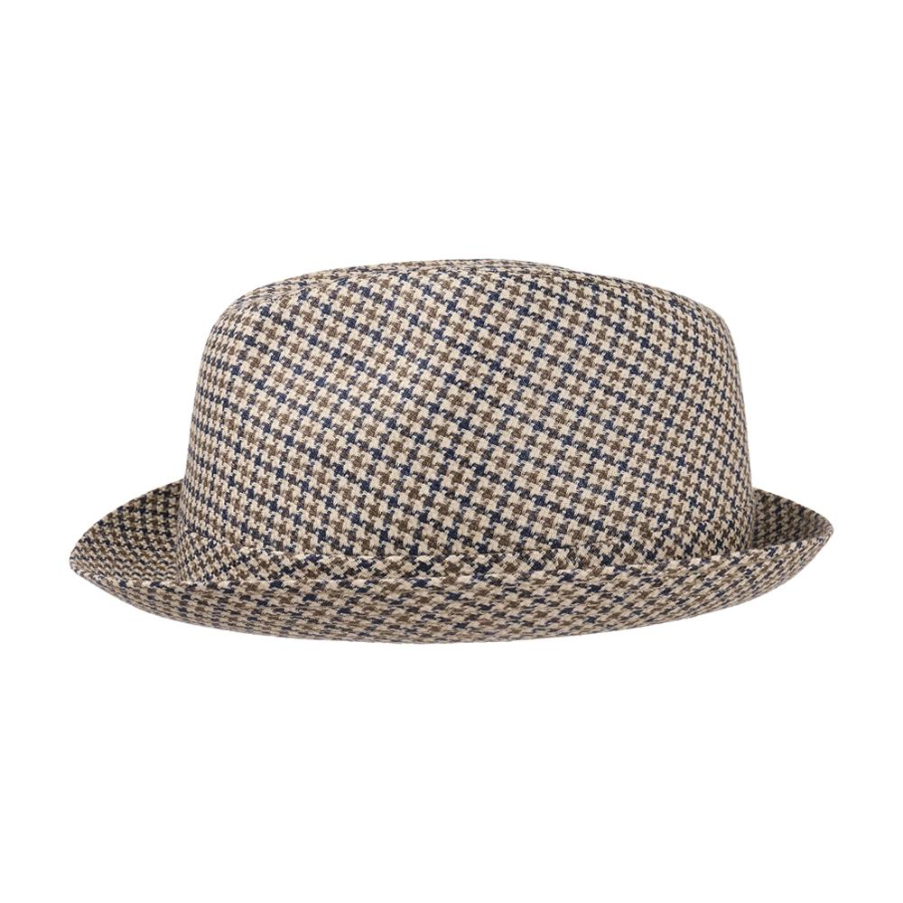 Stetson - Houndstooth Player - Fedora Hat - Blue/Olive