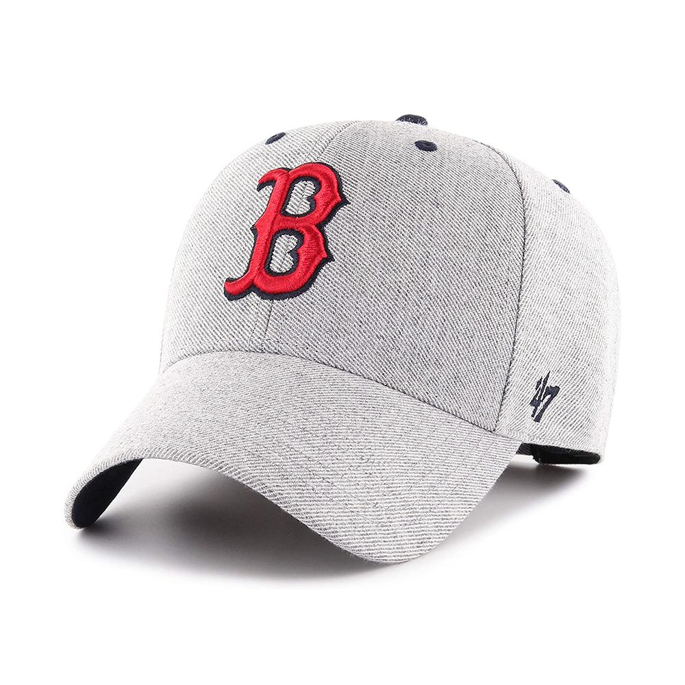 47 Brand - Boston Red Sox MVP Storm Cloud - Adjustable - Charcoal/Red