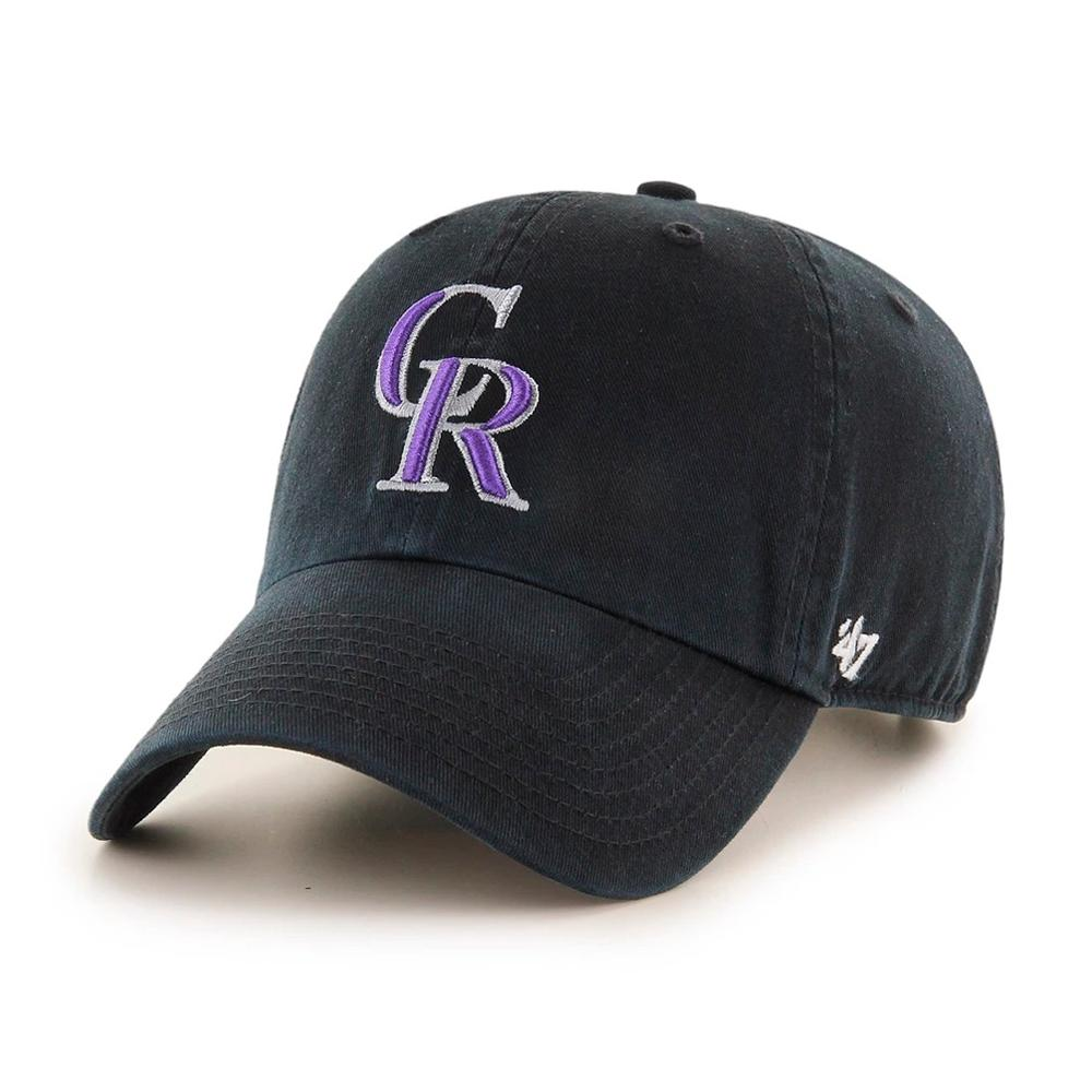 47 Brand - Colorado Rockies Clean Up - Adjustable - Black/Purple