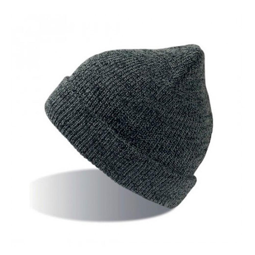 Atlantis - Fold Up Melange - Beanie - Dark Grey