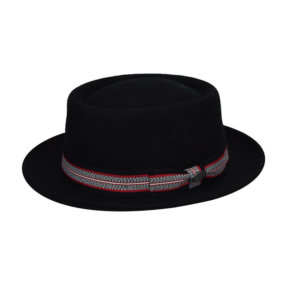 Bailey - Klaxon Pork Pie - Fedora Hat - Black