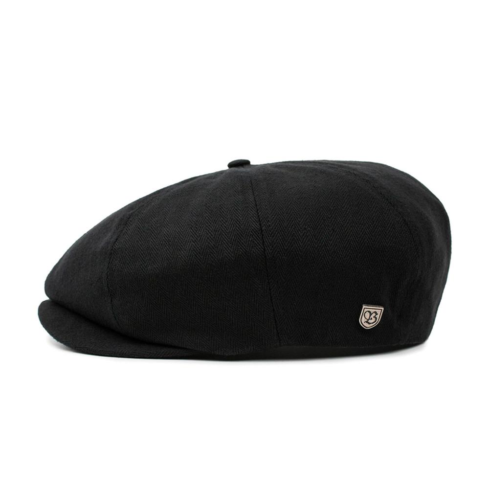 Brixton - Brood Snap Cap - Sixpence/Flat Cap - Black