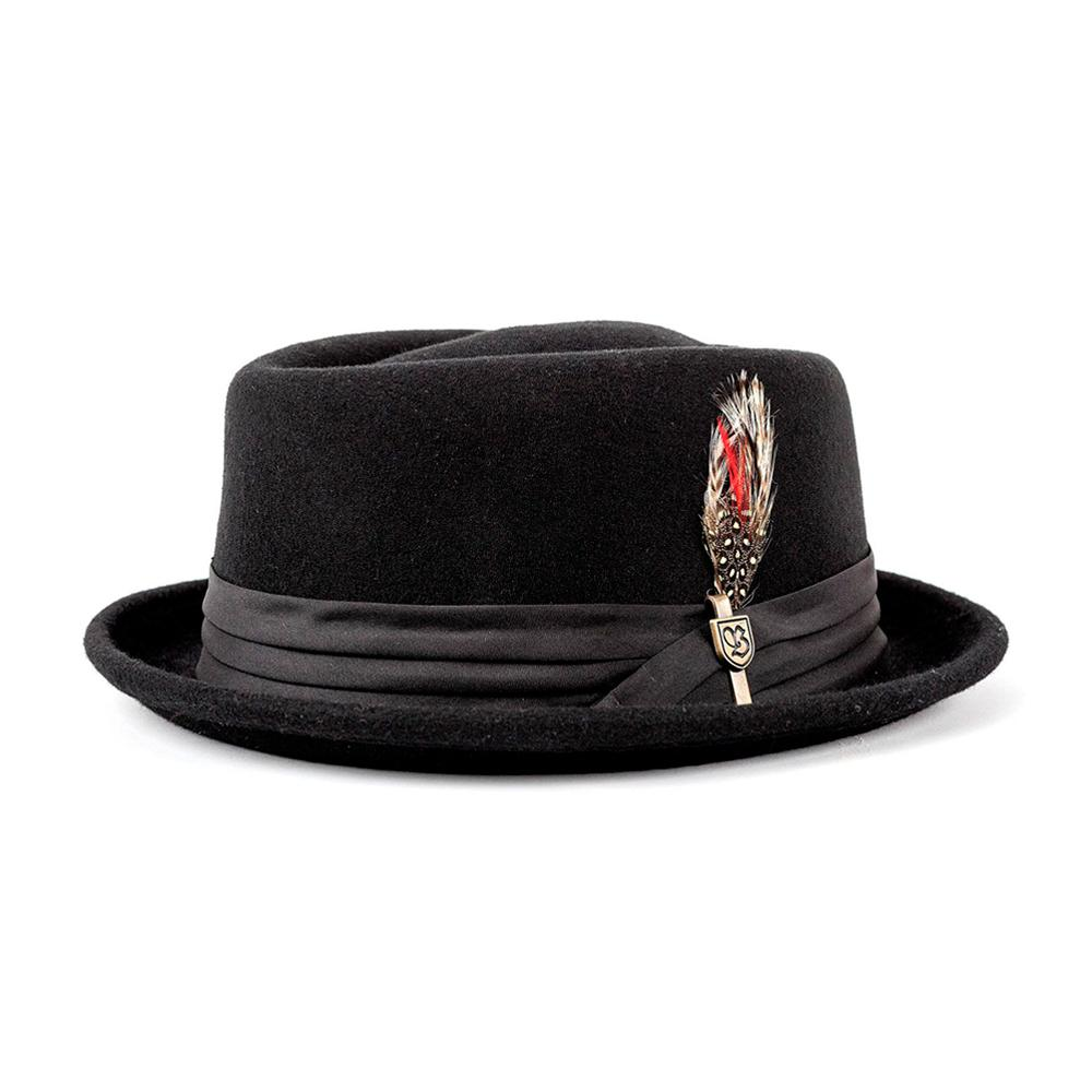 Brixton - Stout Pork Pie - Fedora Hat - Black/Black