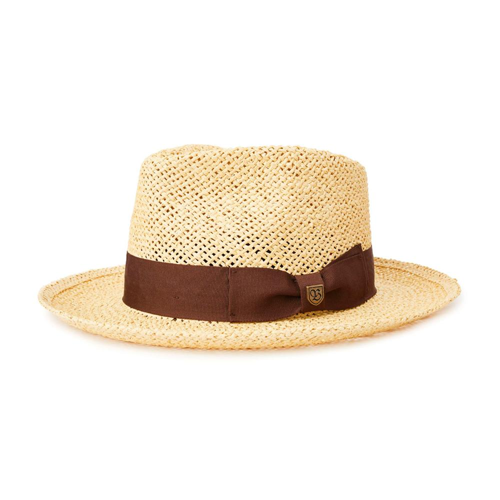 Brixton - Swindle Straw Fedora - Straw Hat - Dark Tan
