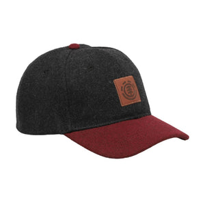 Element - Treelogo Cap - Snapback - Off Black/Maroon