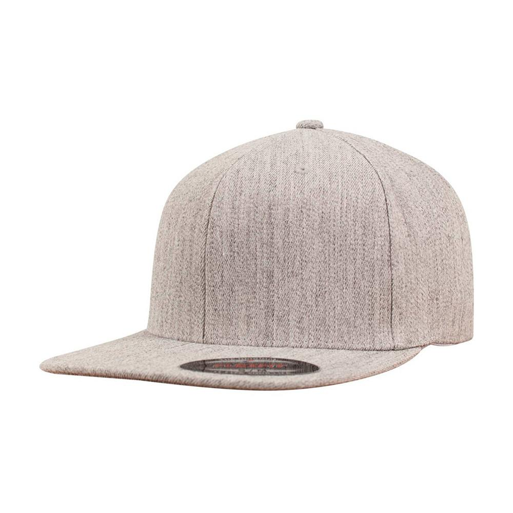 Flexfit - Baseball Flat Visor - Flexfit - Heather Grey