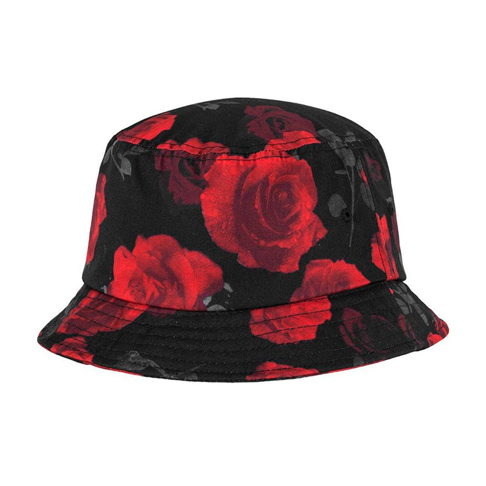 Flexfit - Bucket Hat - Black/Red Rose