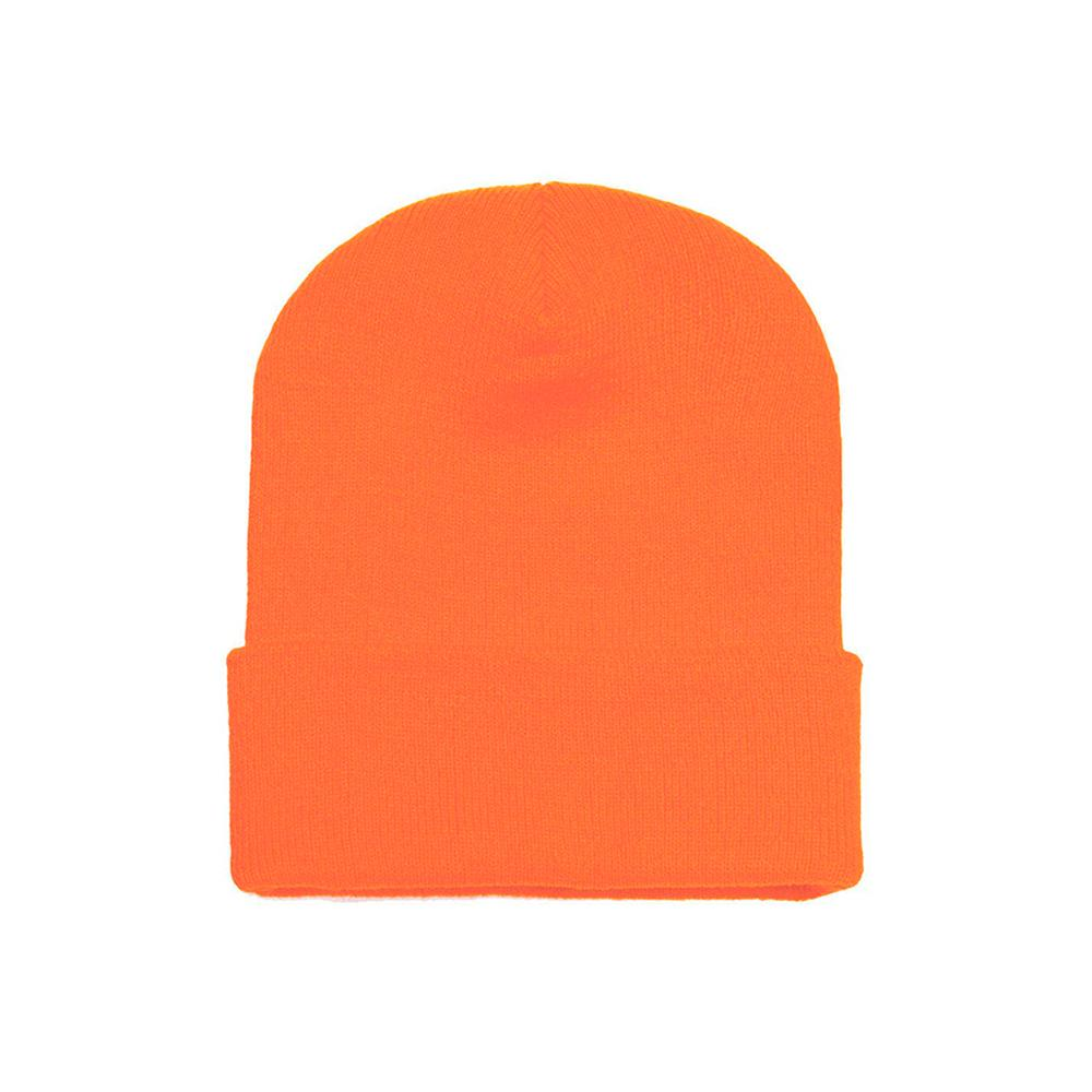 Yupoong - Fold Up Beanie - Safe Orange