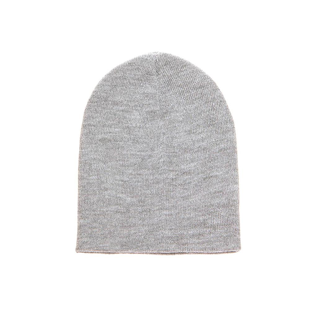 Yupoong - Short Beanie - Heather Grey