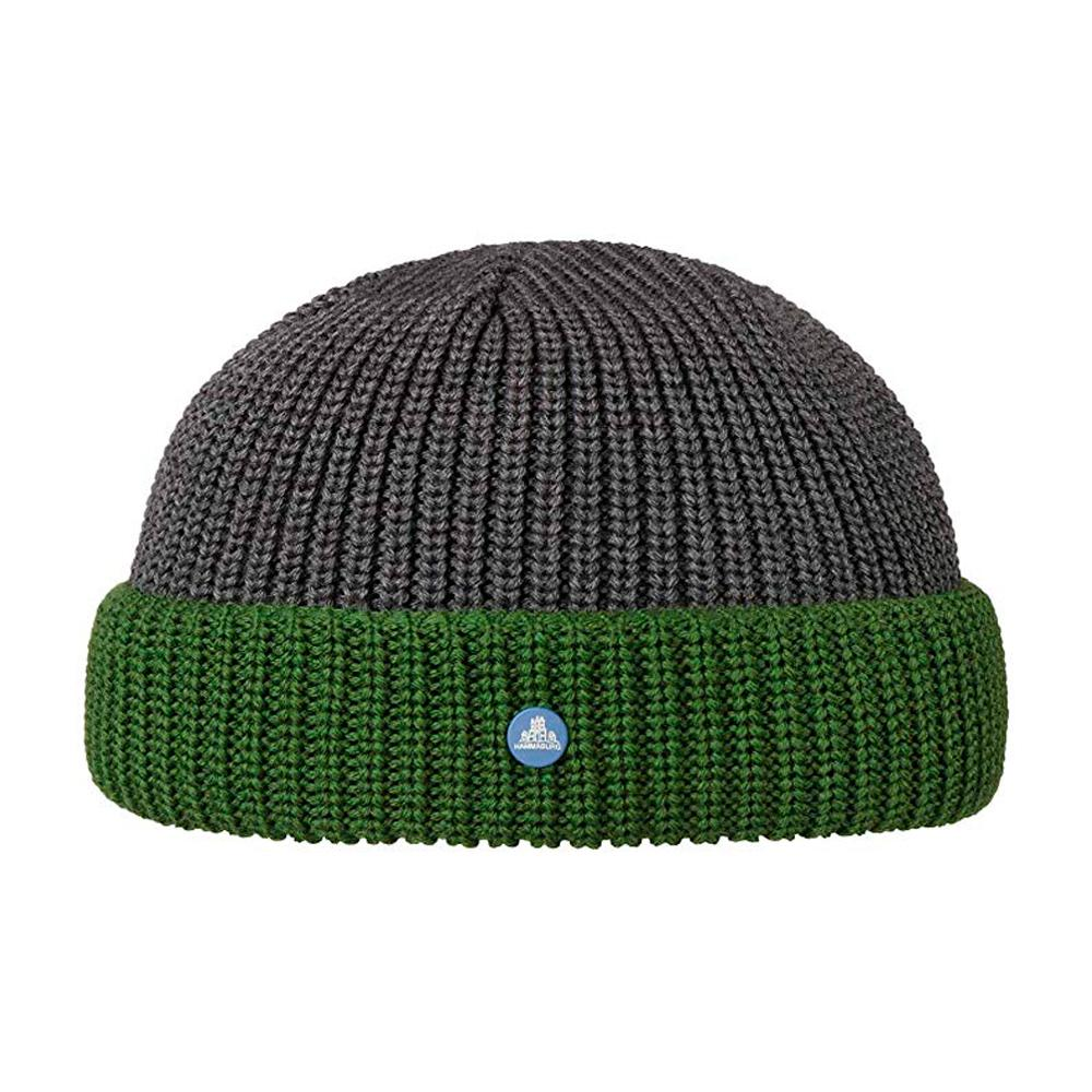 Hammaburg - Docker Knit - Beanie - Dark Grey/Green