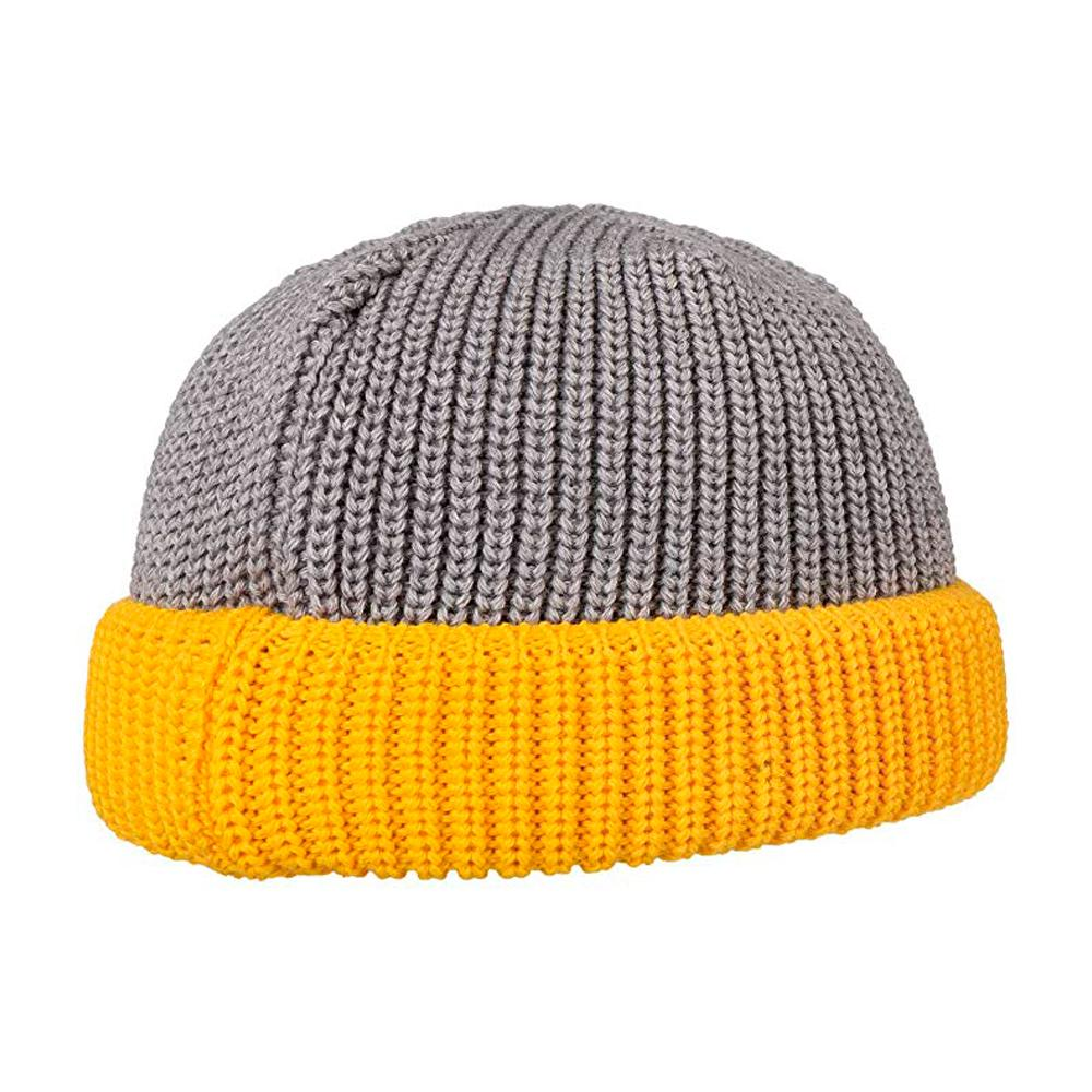 Hammaburg - Docker Knit - Beanie - Grey/Yellow