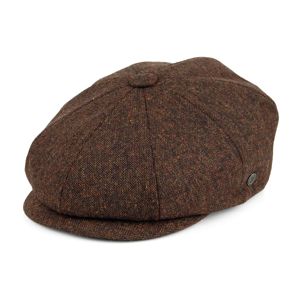 Jaxon & James - Falconbrook Newsboy Cap - Sixpence/Flat Cap - Brown