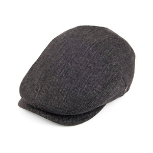 Jaxon & James - Herringbone Extended Bill - Sixpence/Flat Cap - Charcoal
