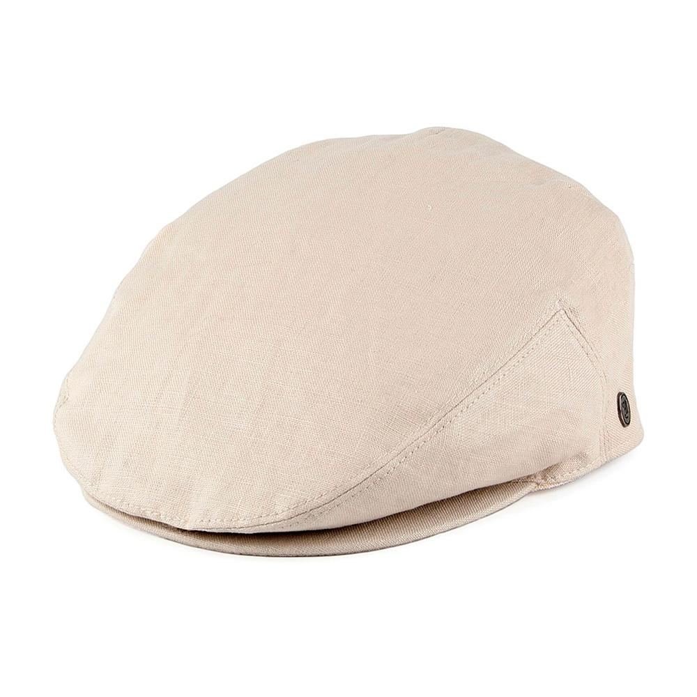 Jaxon & James - Linen Cap - Sixpence/Flat Cap - Natural Beige