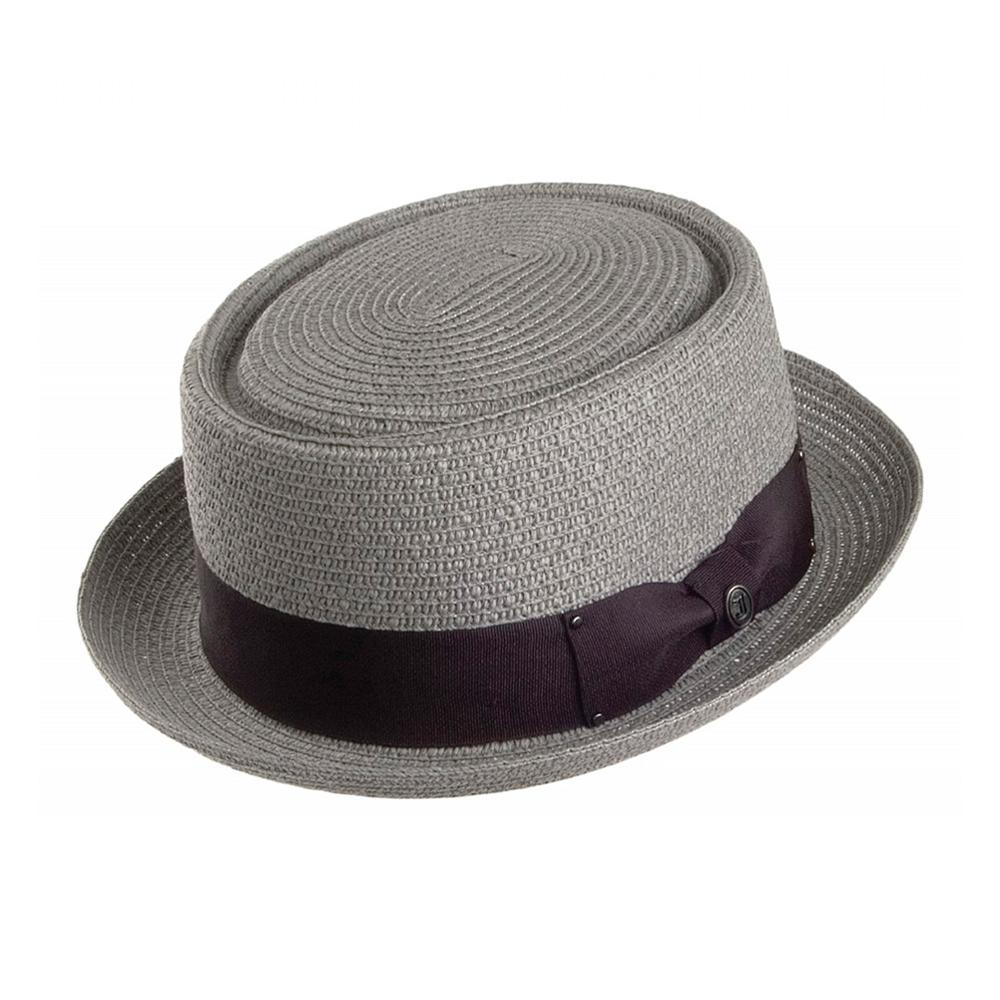 Jaxon & James - Toyo Braided Pork Pie Hat - Straw Hat - Grey