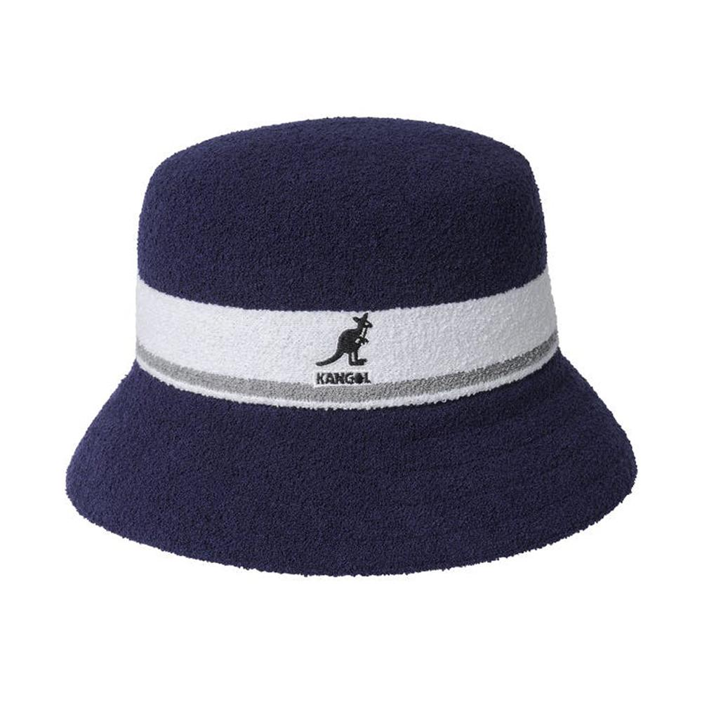 Kangol - Bermuda Stripe - Bucket Hat - Navy