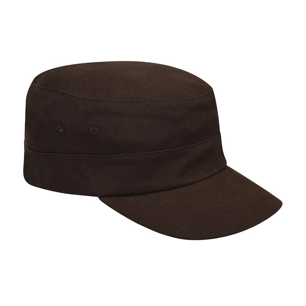 Kangol - Cotton Twill Army Cap - Flexfit - Brown