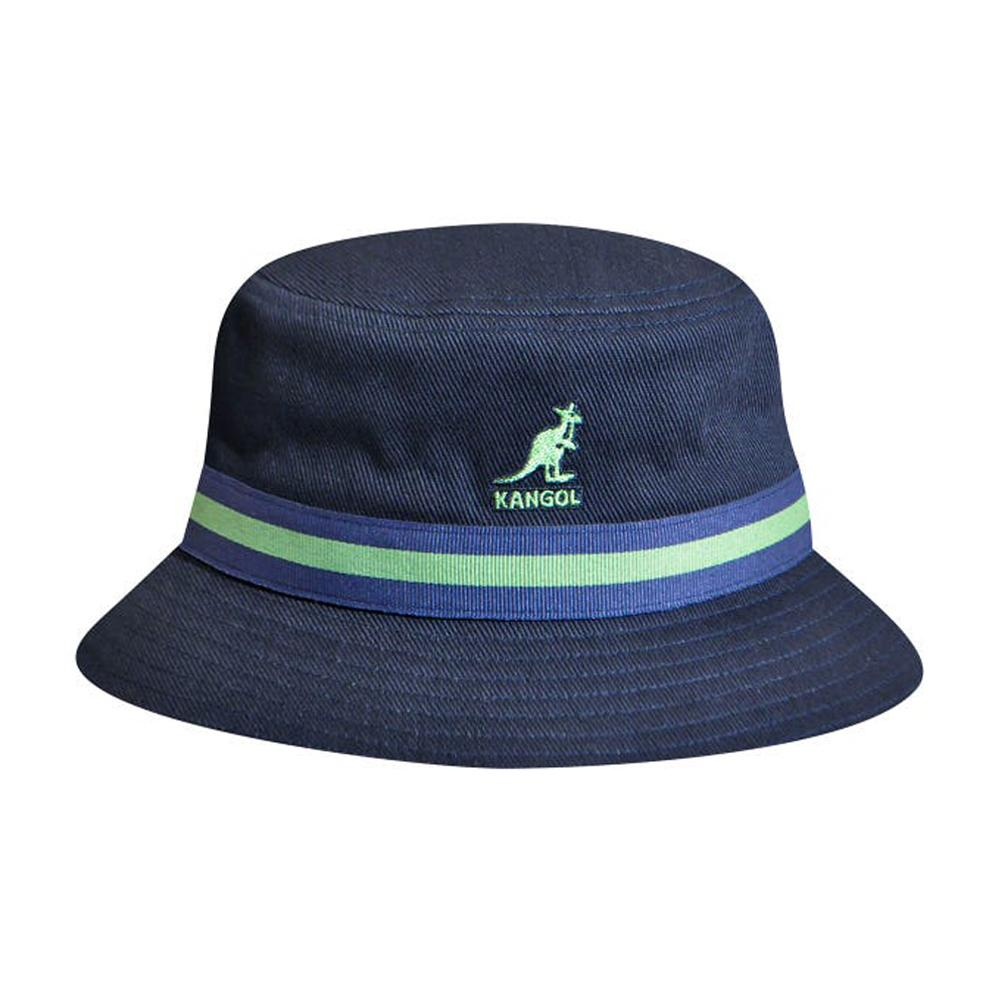 Kangol - Stripe Lahinch - Bucket Hat - Navy
