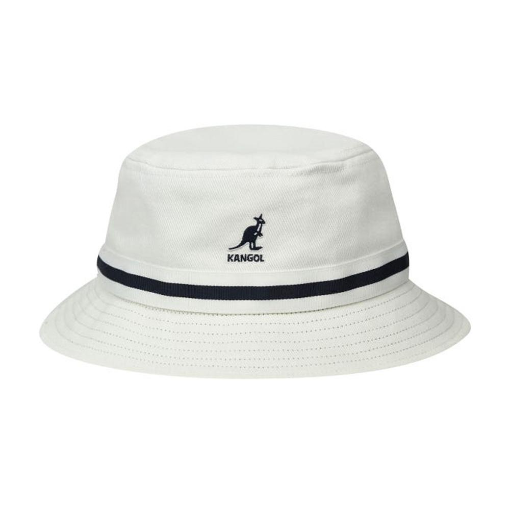 Kangol - Stripe Lahinch - Bucket Hat - White