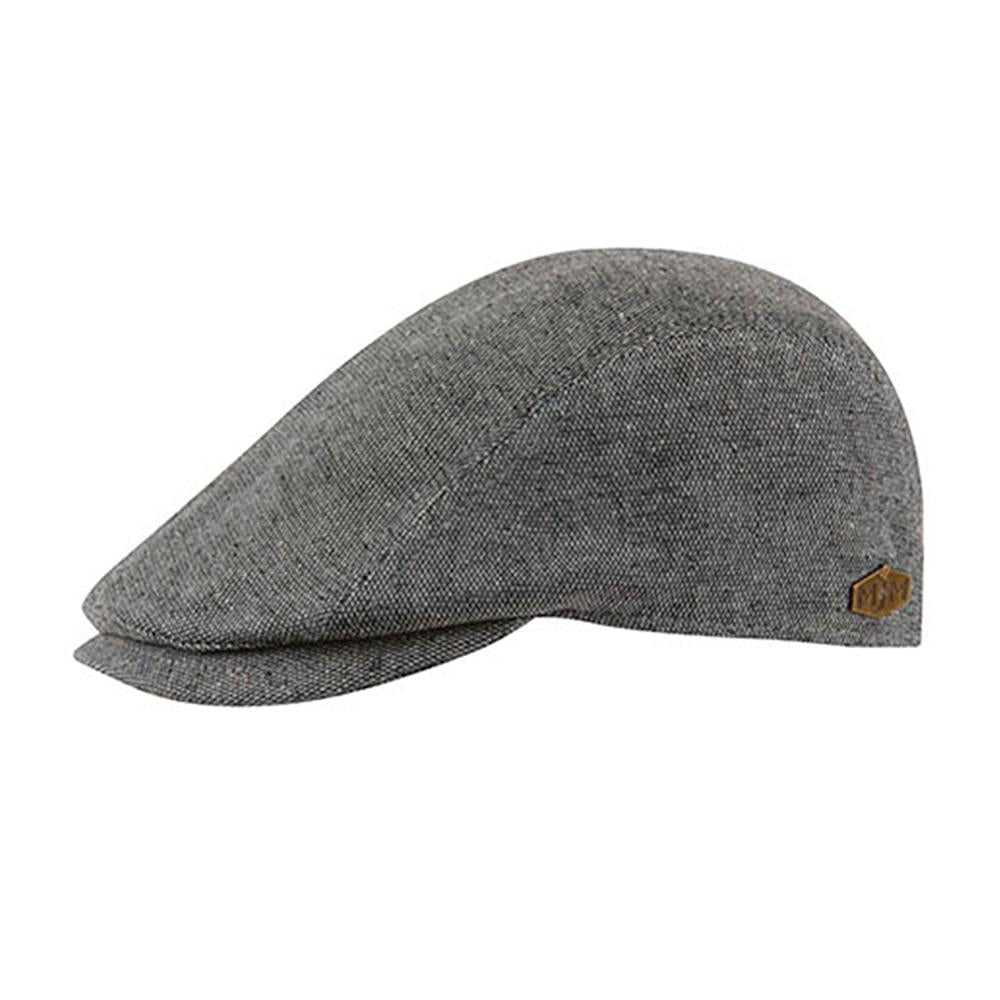 MJM Hats - Daffy 3 - Sixpence/Flat Cap - Grey