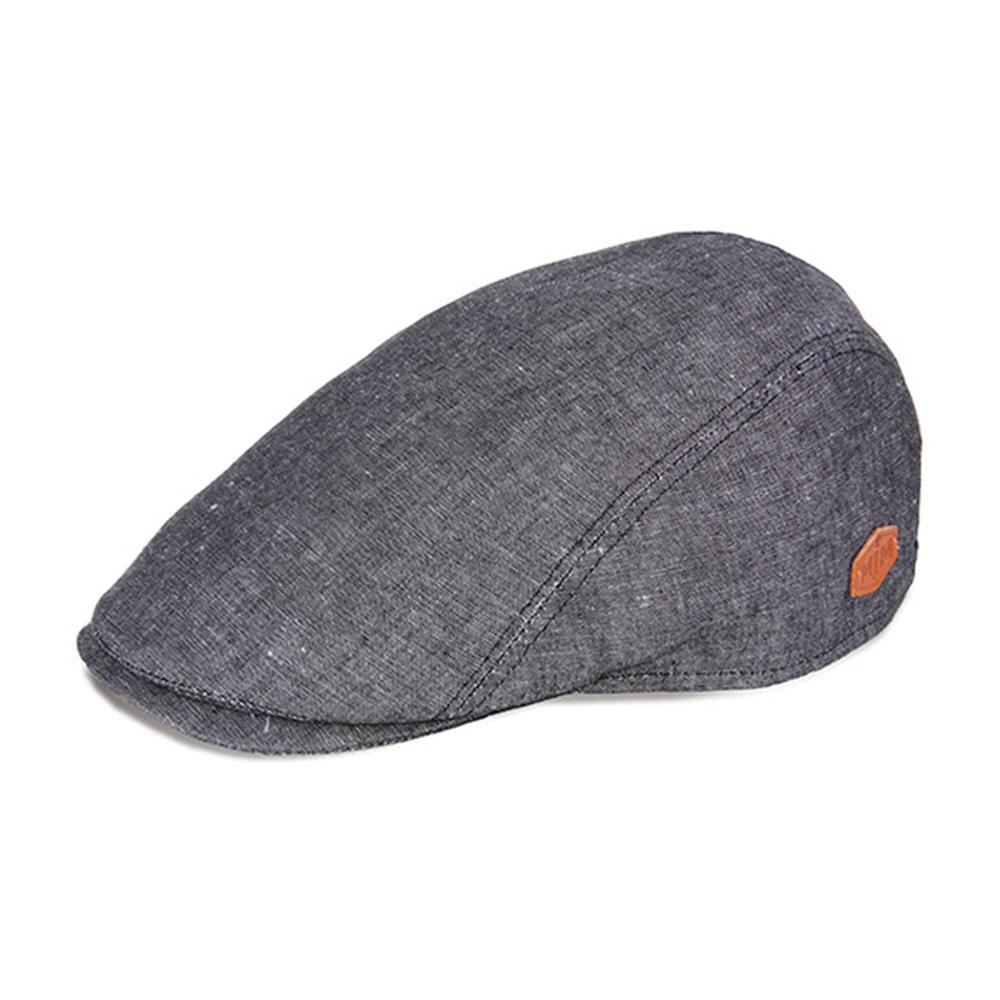 MJM Hats - Bang - Sixpence/Flat Cap - Black