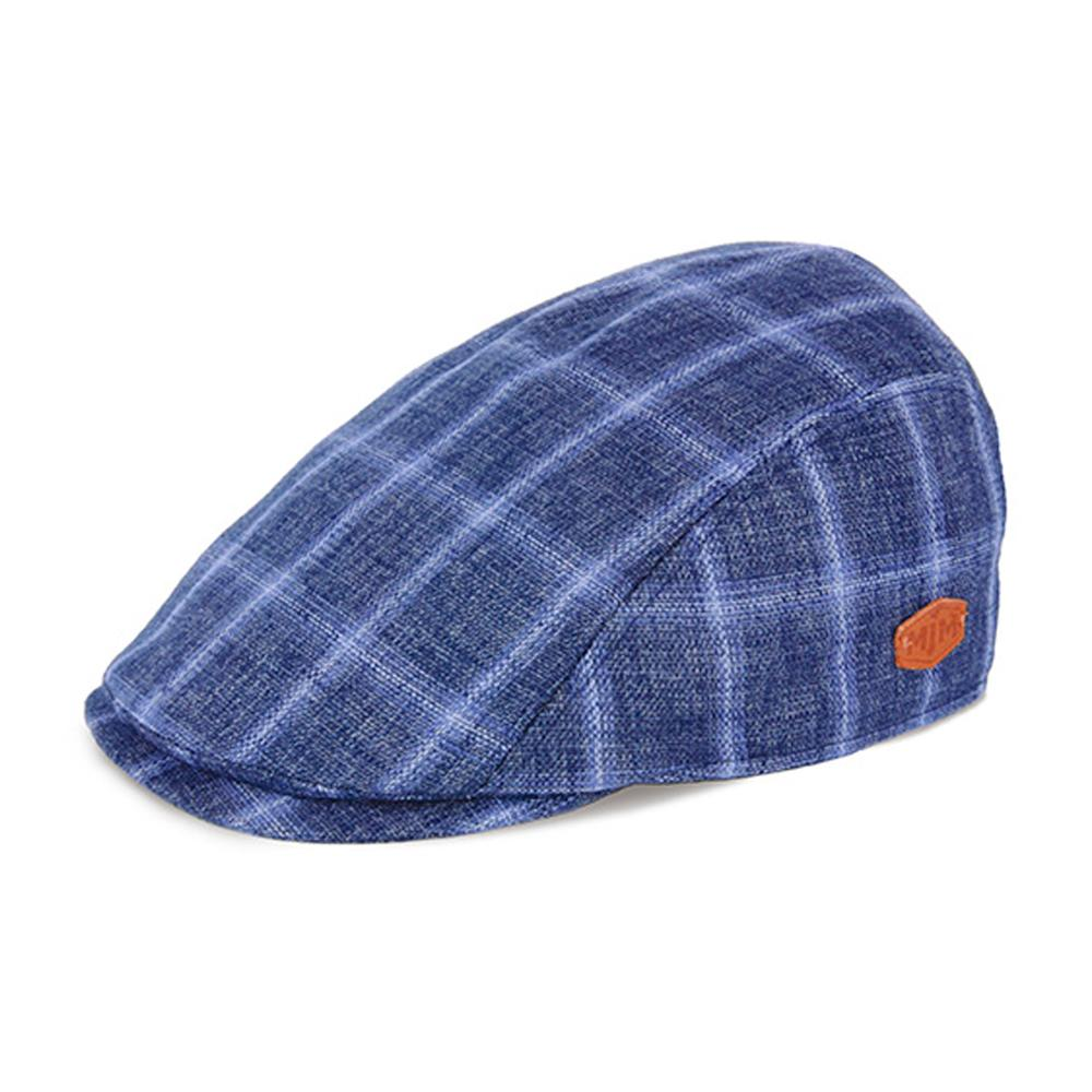 MJM Hats - Bang - Sixpence/Flat Cap - Blue Check