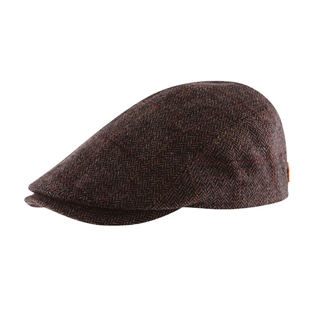 MJM Hats - Bang - Sixpence/Flat Cap - Brown