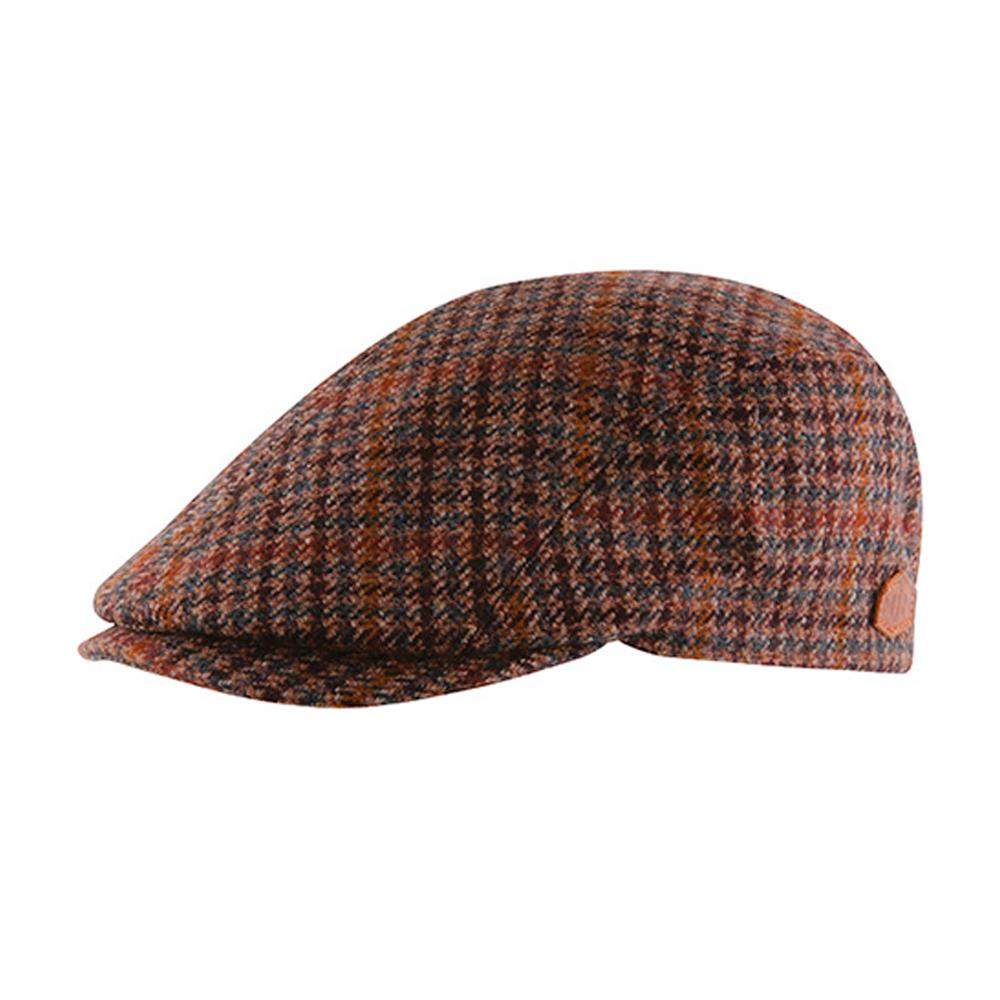 MJM Hats - Daffy 3 Virgin - Sixpence/Flat Cap - Brown Check