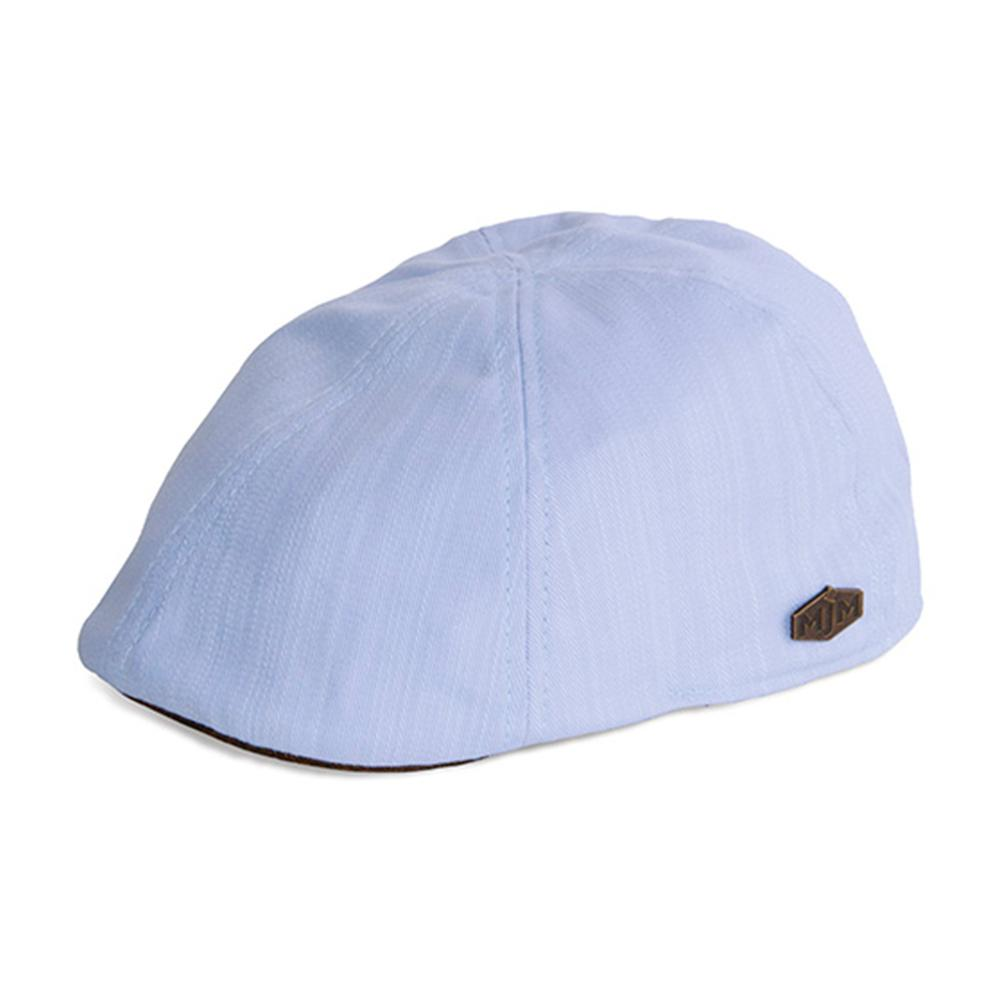 MJM Hats - Duck Slub 58043 - Sixpence/Flat Cap - Light Blue