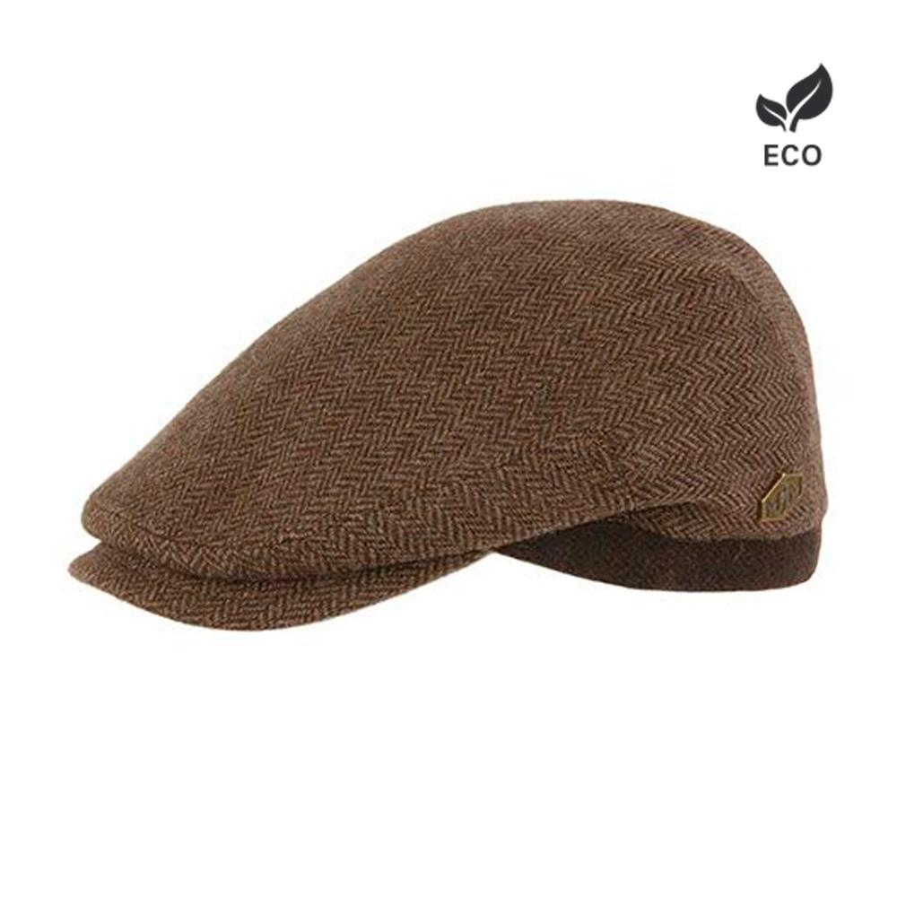 MJM Hats - Jordan - Sixpence/Flat Cap - Brown Herringbone