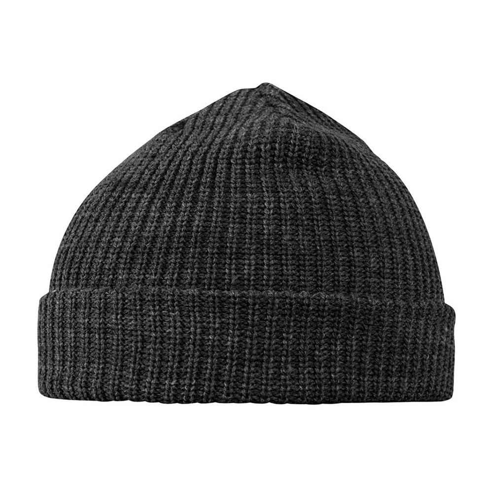 MSTRDS Munich - Fisherman Rib - Short Beanie - Dark Grey