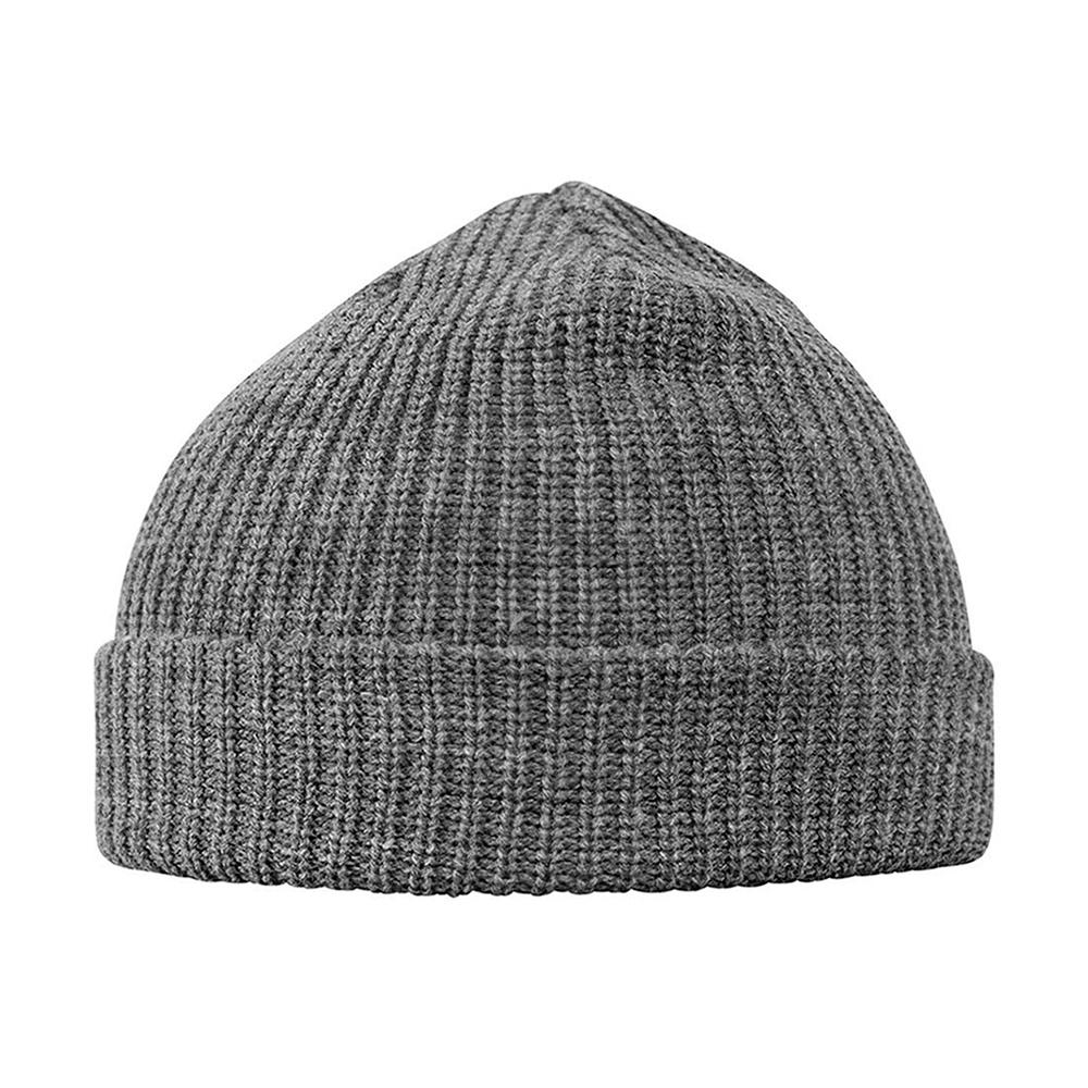 MSTRDS Munich - Fisherman Rib - Short Beanie - Heather Grey