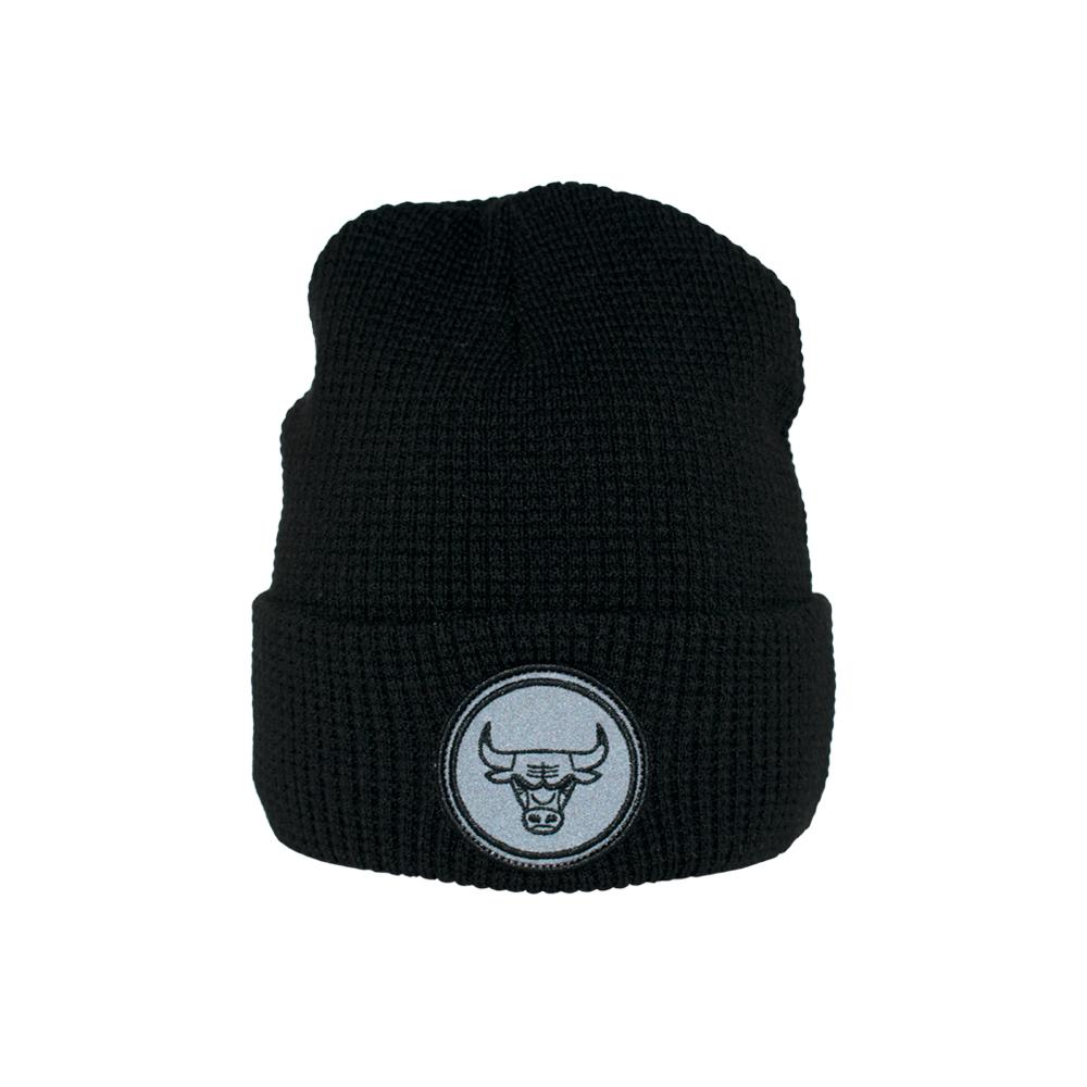 Mitchell & Ness - Reflective Patch - Beanie - Black