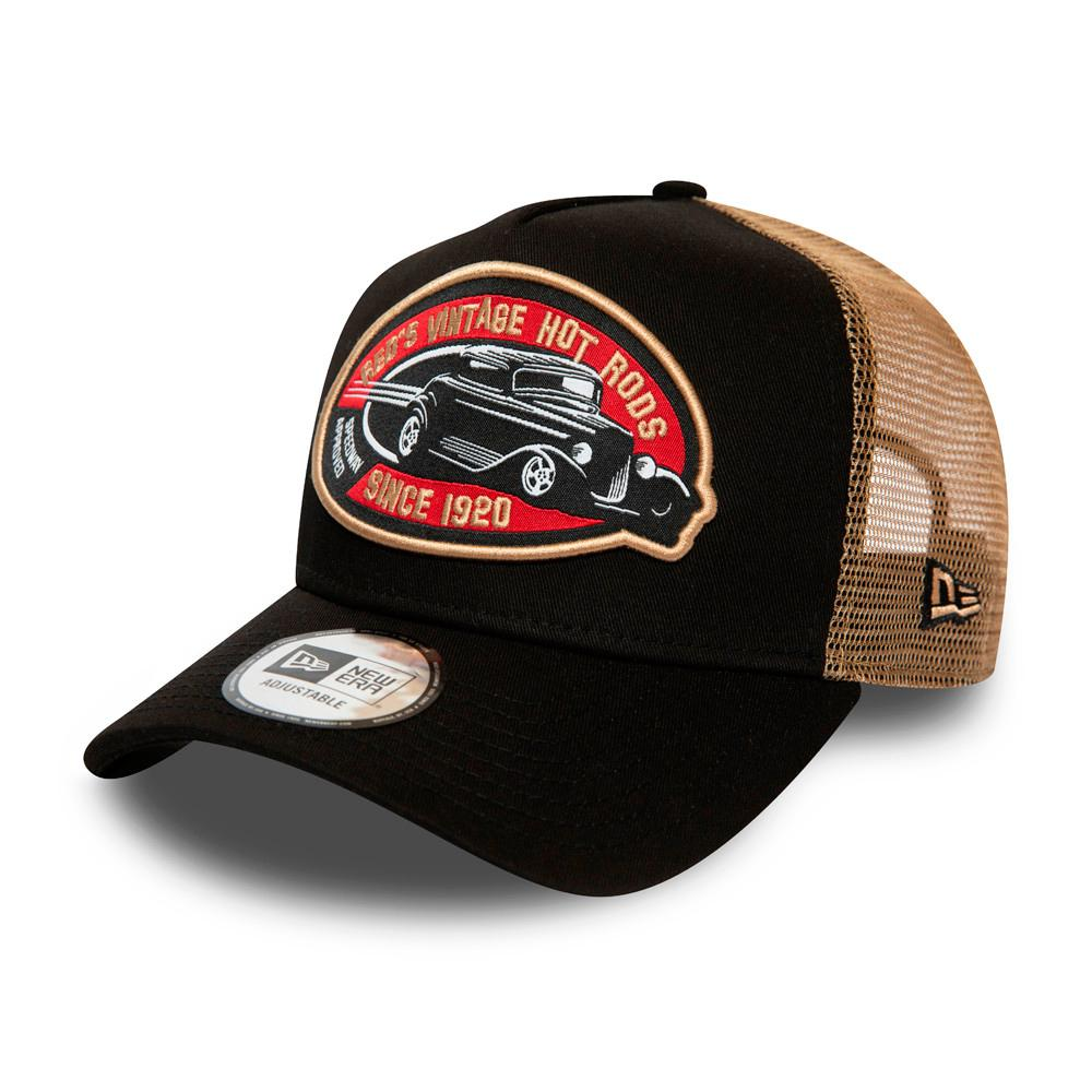 New Era - Hot Rod Fabric Patch Clean a Frame - Trucker/Snapback - Black/Brown