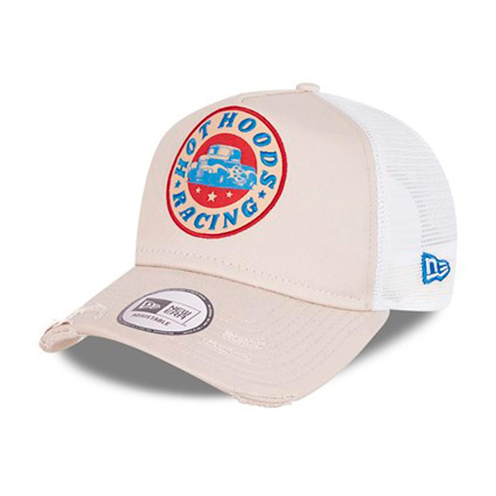 New Era - Race Patch A Frame - Trucker/Snapback - Beige/White
