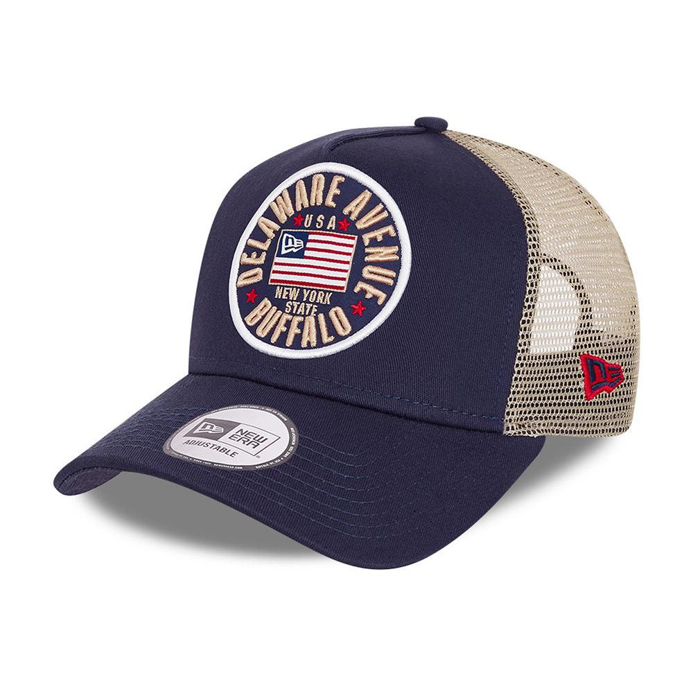 New Era - USA Flaf A Frame - Trucker/Snapback - Navy Blue/Beige