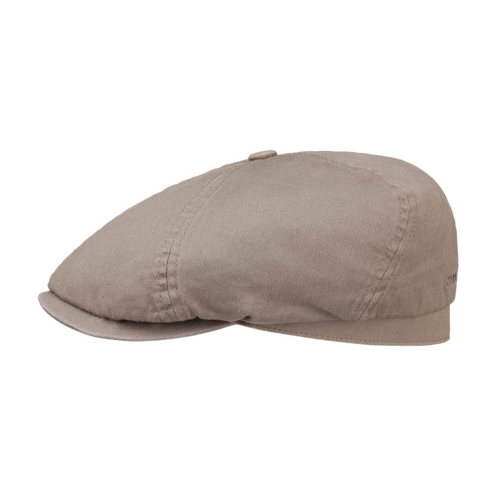 Stetson - 6 Panel Cotton Twill - Sixpence/Flat Cap - Taupe