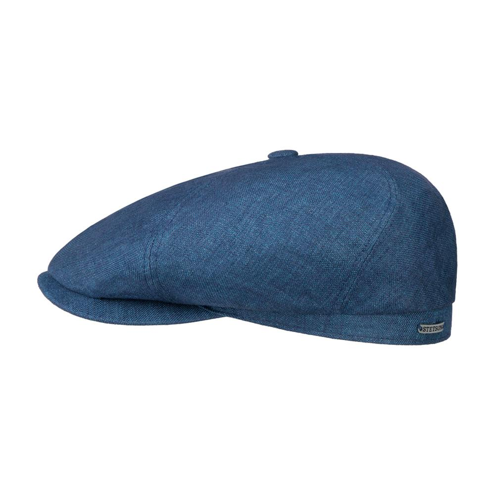 Stetson - 6 Panel Just Linen - Sixpence/Flat Cap - Navy