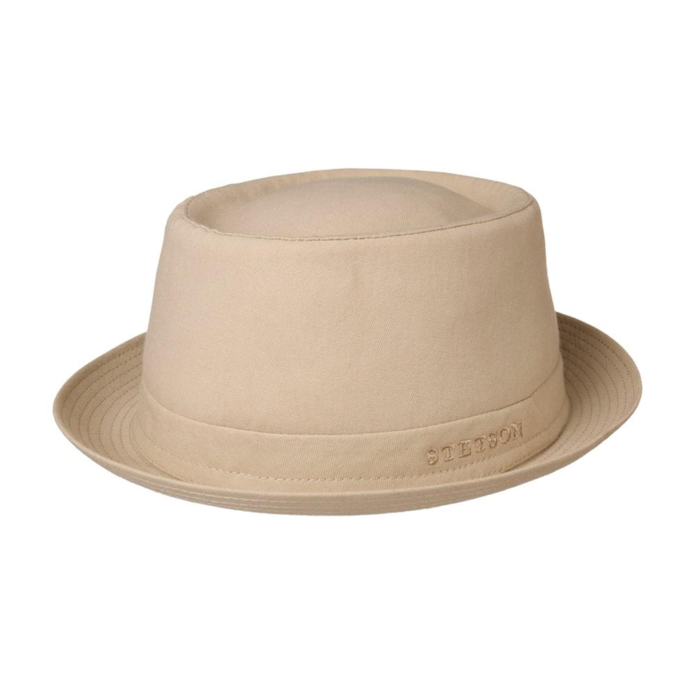 Stetson - Athens Cotton Pork Pie - Fedora Hat - Oatmeal