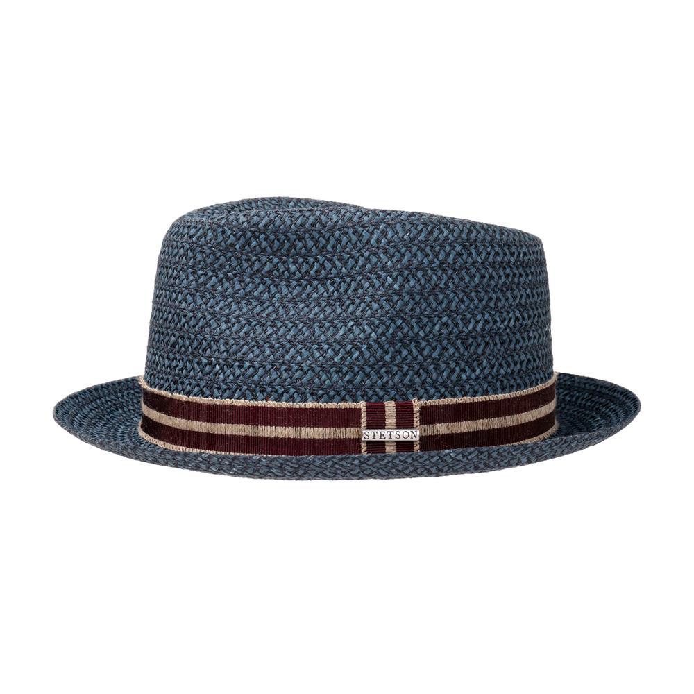 Stetson - Fritch Fedora - Straw Hat - Navy