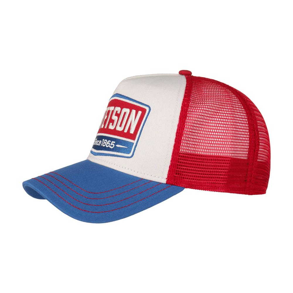 Stetson - Gasoline Trucker - Snapback - White/Blue/Red