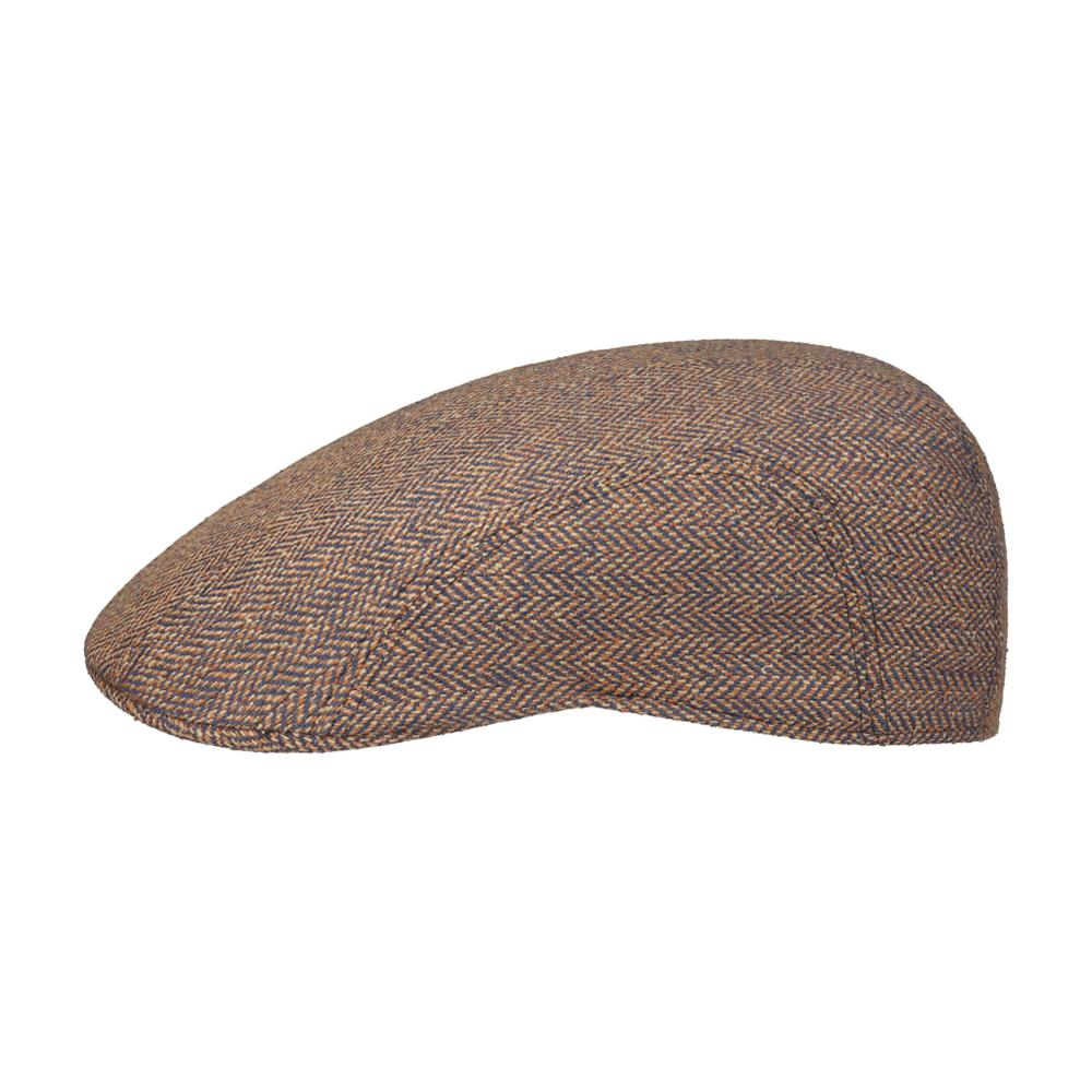 Stetson - Madison Silk - Sixpence/Flat Cap - Brown/Navy