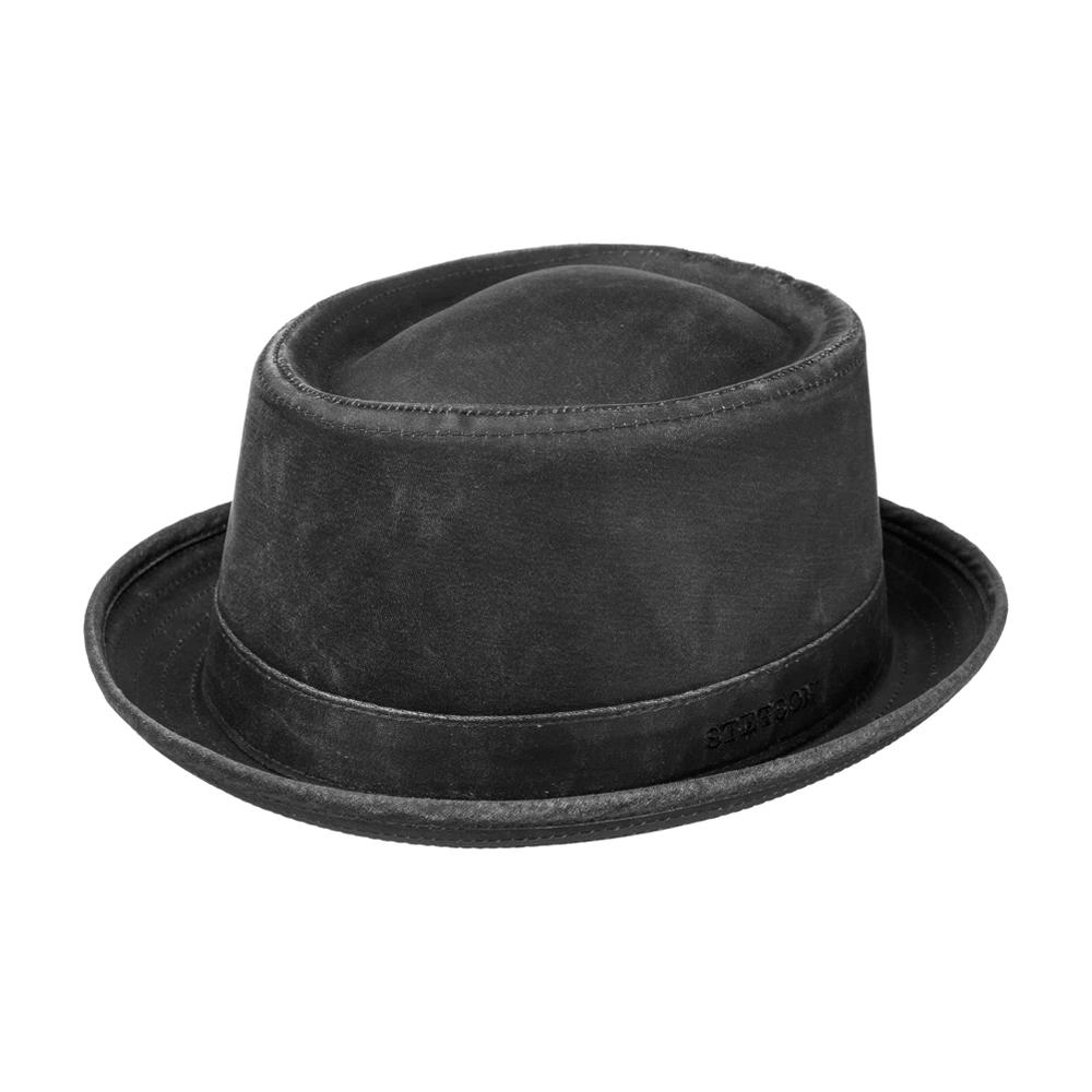 Stetson - Odenton Pork Pie Cloth Hat - Fedora - Black