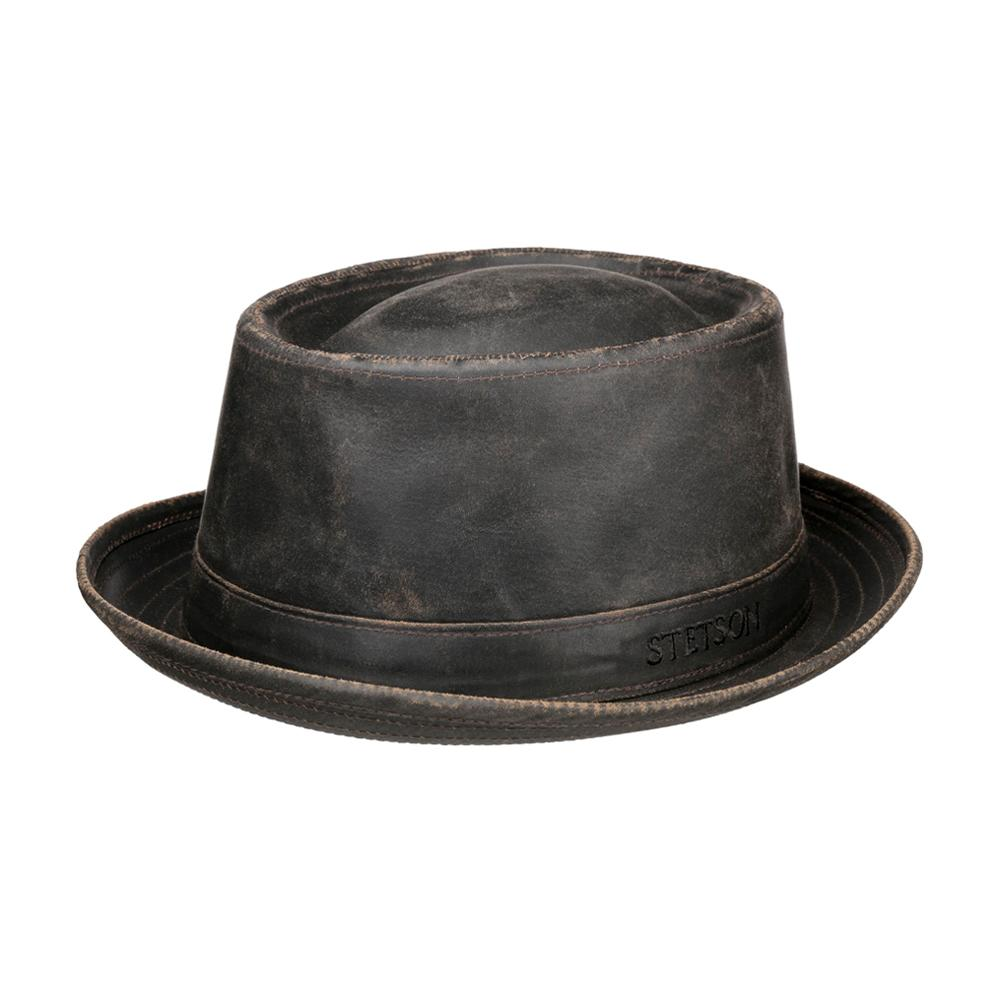 Stetson - Odenton Pork Pie Cloth Hat - Fedora - Brown