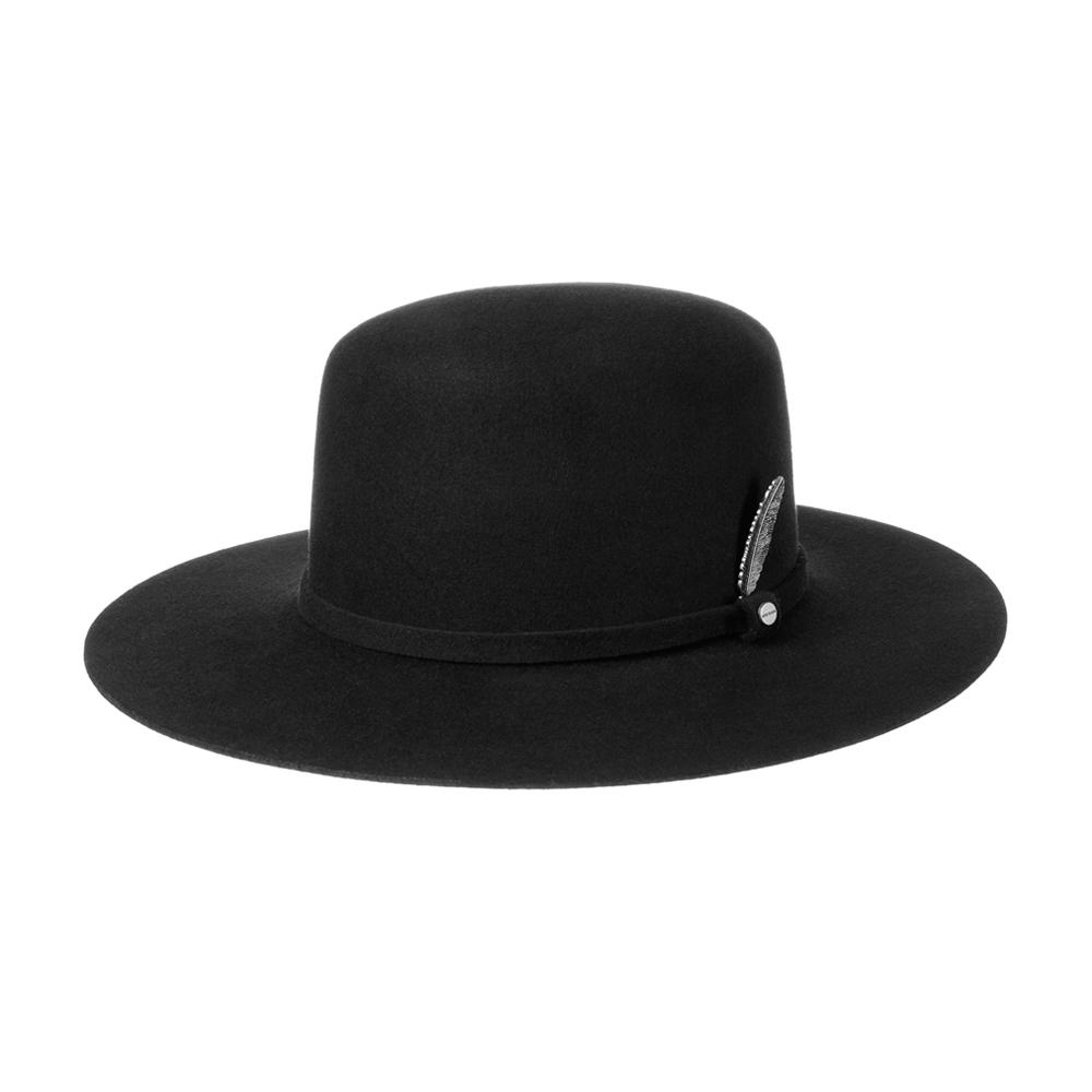 Stetson - Open Crown Wool Hat - Fedora - Black