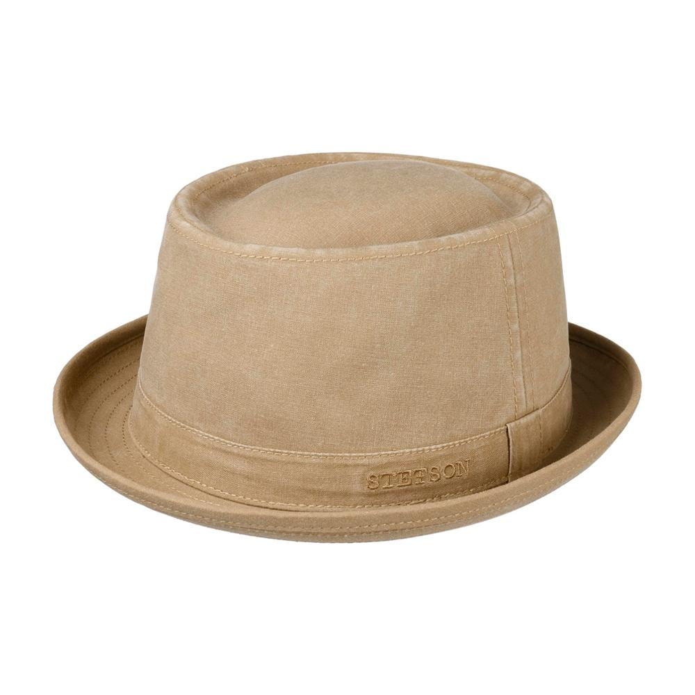 Stetson - Organic Cotton Pork Pie Cloth Hat - Fedora - Brown