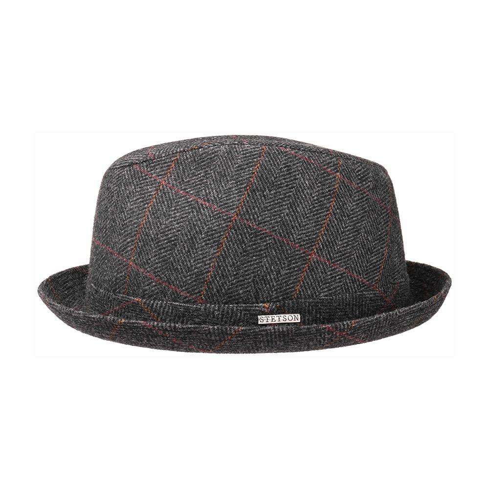 Stetson - Player Wool - Fedora Hat - Black/Grey